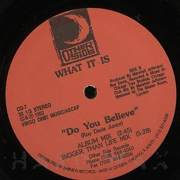 Cover art - What It Is: Do You Believe