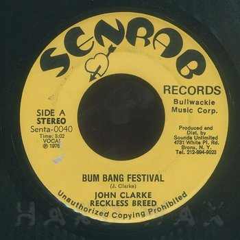 Cover art - John Clarke: Bum Bang Festival