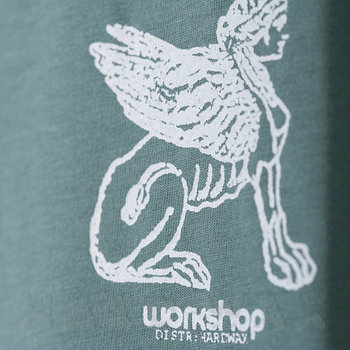 Cover art - T-Shirt, Size S: Workshop 18, mint grey w/ white print