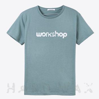 Cover art - T-Shirt, Size L: Workshop Logo, mint grey w/ white print