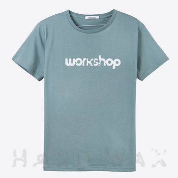 Cover art - T-Shirt, Size XL: Workshop Logo, mint grey w/ white print