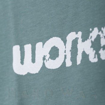 Cover art - T-Shirt, Size XL: Workshop Logo, mint grey w/ white print
