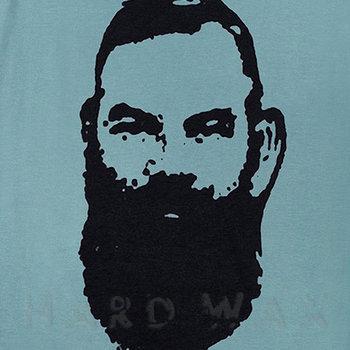 Cover art - T-Shirt, Size L: Workshop 08, mint grey w/ white print