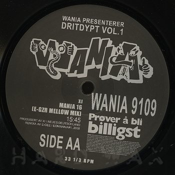 Cover art - Various Artists: Wania Presenterer Dritdypt Vol. 1