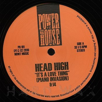 Cover art - Head High: It's A Love Thing (Piano Invasion)