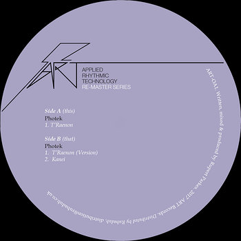 Cover art - Photek: T'Raenon