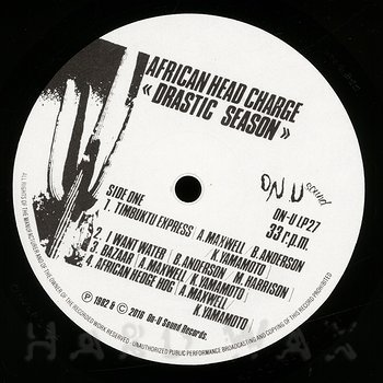 Cover art - African Head Charge: Drastic Season