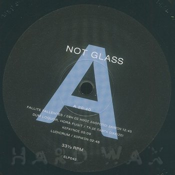 Cover art - Not Glass: Forma