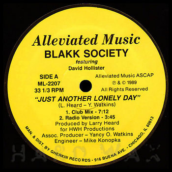 Cover art - Blakk Society: Just Another Lonely Day