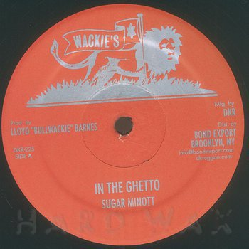 Cover art - Sugar Minott: In The Ghetto