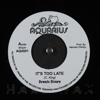 Cover art - Dennis Brown: It's Too Late