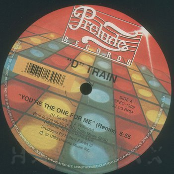 Cover art - D Train: You're The One For Me