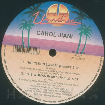 Cover art - Carol Jiani: Hit 'N Run Lover