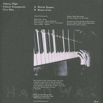 Cover art - Château Flight & Cabaret Contemporain: Terry Riley Cover EP