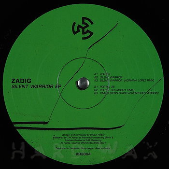 Cover art - Zadig: Silent Warrior EP