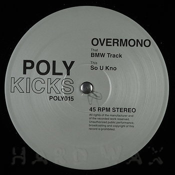 Cover art - Overmono: BMW Track / So U Kno