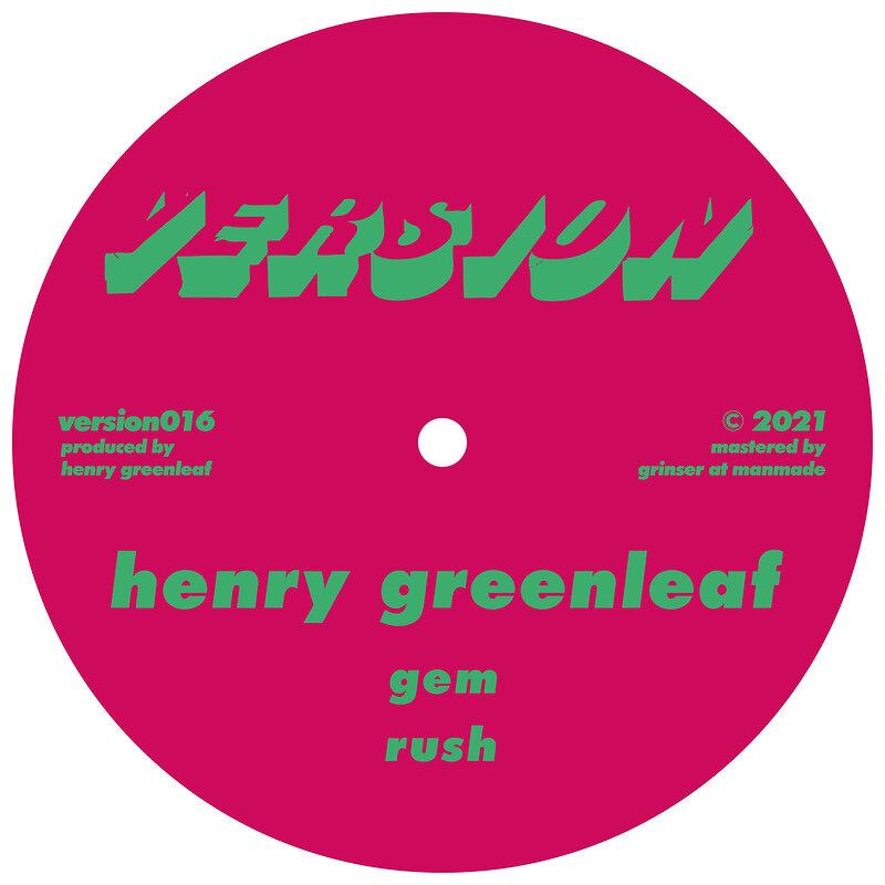Cover art - Henry Greenleaf: Rush EP