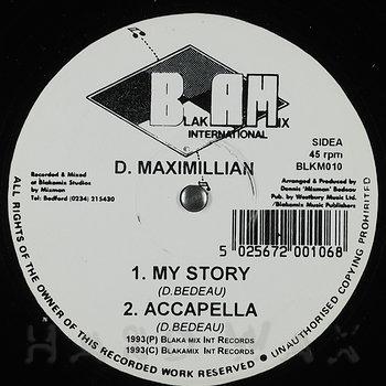 Cover art - D. Maximillian: My Story