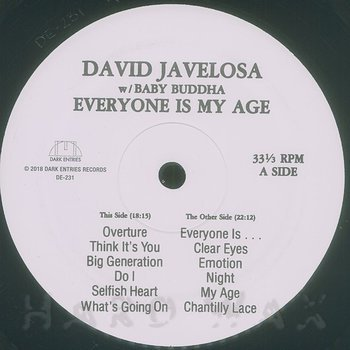 Cover art - David Javelosa & Baby Buddha: Everyone Is My Age