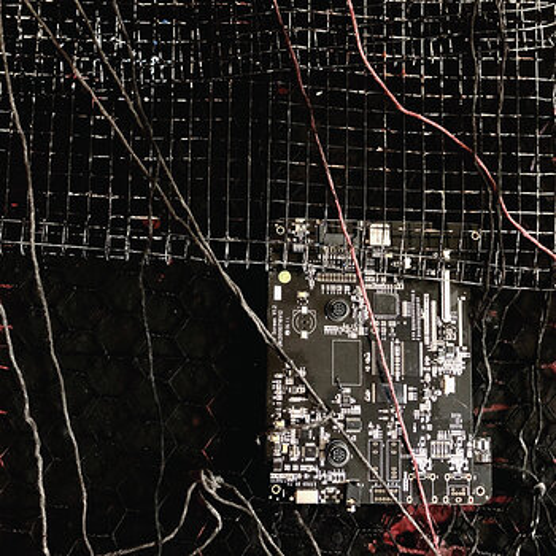 Cover art - Merzbow / Prurient: Black Crows Cyborg