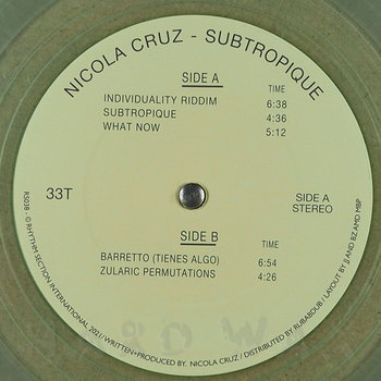 Cover art - Nicola Cruz: Subtropique