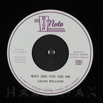 Cover art - Lilian Williams: Why Did You Use Me