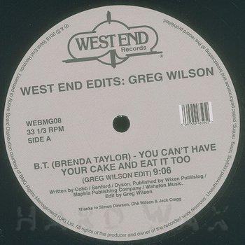 Cover art - Various Artists: West End Edits: Greg Wilson