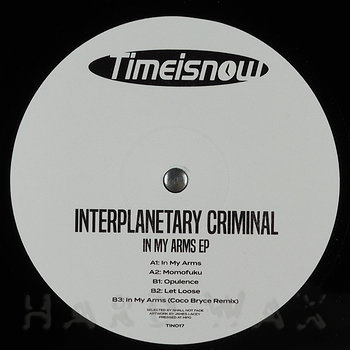 Cover art - Interplanetary Criminal: In My Arms