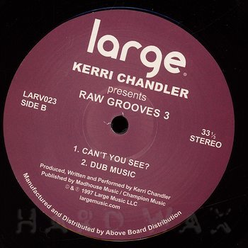 Cover art - Kerri Chandler: Raw Grooves 3