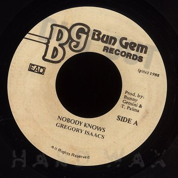 Cover art - Gregory Isaacs: Nobody Knows