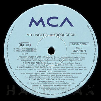Cover art - Mr. Fingers: Introduction