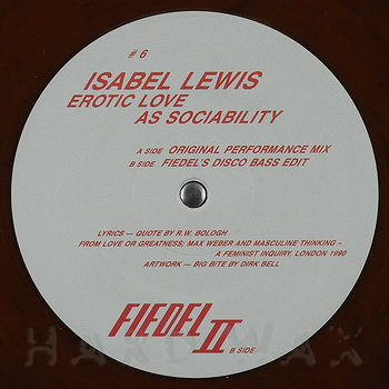 Cover art - Isabel Lewis: Erotic Love As Sociability EP