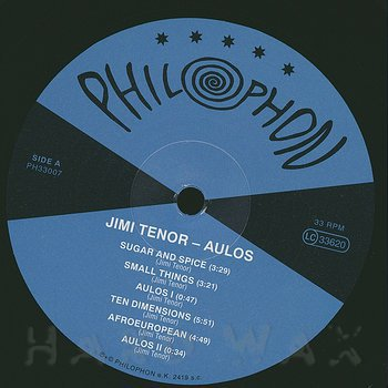 Cover art - Jimi Tenor: Aulos