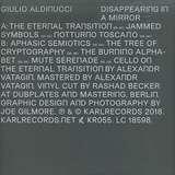 Cover art - Giulio Aldinucci: Disappearing In A Mirror