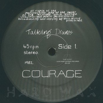 Cover art - Talking Drums: Courage EP