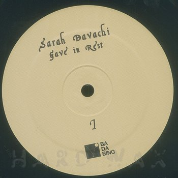 Cover art - Sarah Davachi: Gave In Rest