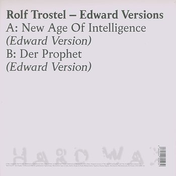 Cover art - Rolf Trostel: Edward Versions