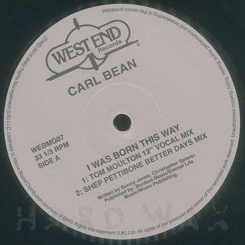 Cover art - Carl Bean: I Was Born This Way