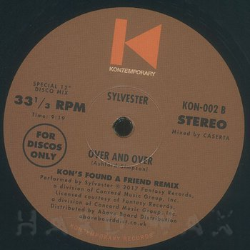 Cover art - Sylvester: Over & Over (Kon's Find A Friend Remix)