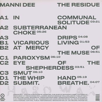 Cover art - Manni Dee: The Residue