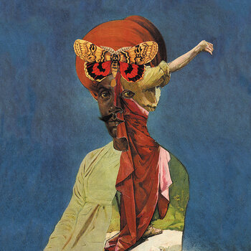 Cover art - Blood Stereo and Hair & Treasure: Split LP