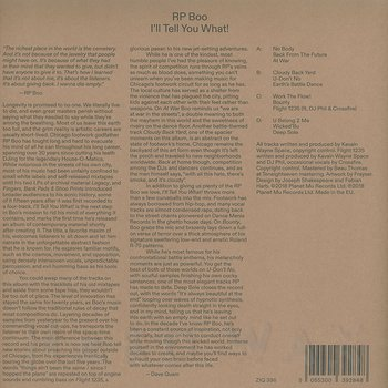 Cover art - RP Boo: I'll Tell You What!