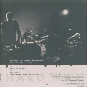 Cover art - Keiji Haino, Jozef Dumoulin & Teun Verbruggen: The Miracles Of Only One Thing