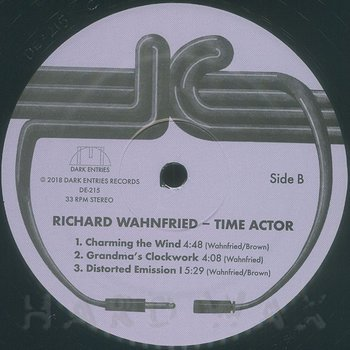 Cover art - Richard Wahnfried: Time Actor