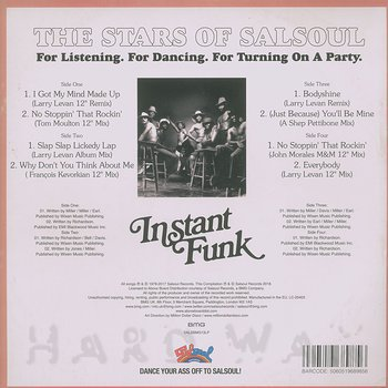 Cover art - Instant Funk: The Stars Of Salsoul
