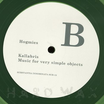 Cover art - Kallabris: Music For Very Simple Objects