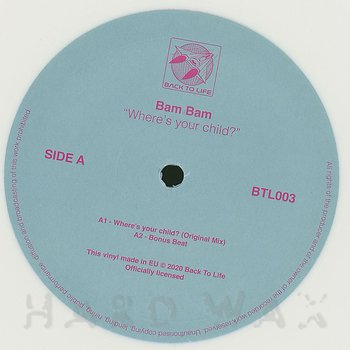 Cover art - Bam Bam: Where's Your Child