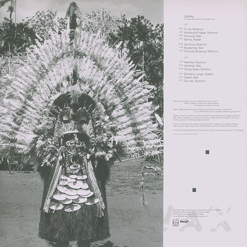 Cover art - Ragnar Johnson: Crying Bamboos: Ceremonial Flute Music from New Guinea: Madang