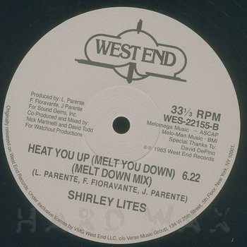 Cover art - Shirley Lites: Heat You Up (Melt You Down)