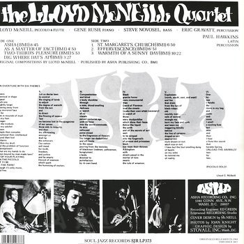 Cover art - The Lloyd McNeill Quartet: Asha